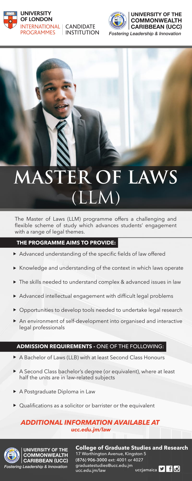 UOL Master of Laws Flyer