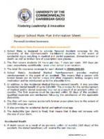 Sagicor School Mate Personal Accident Insurance Information Sheet