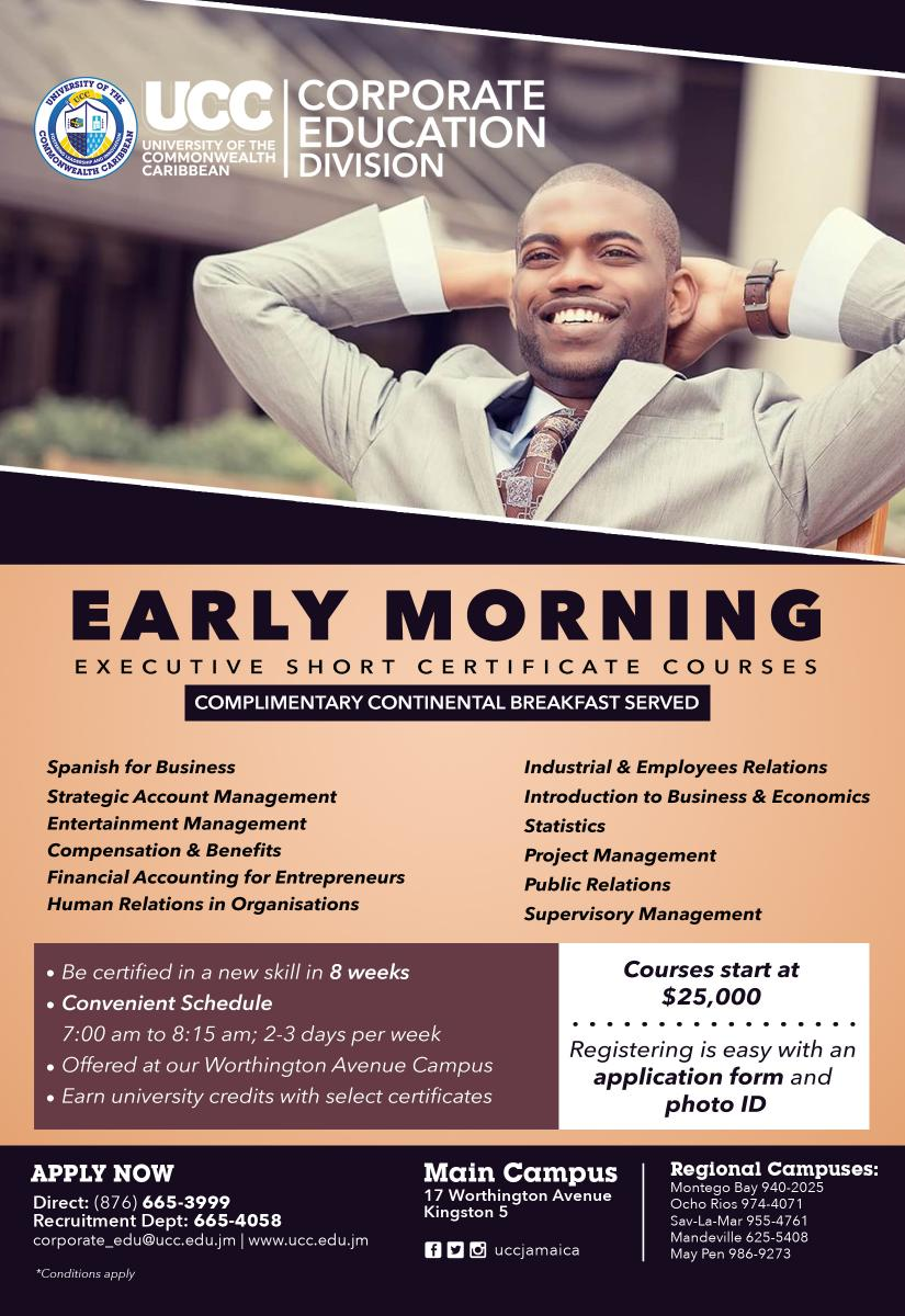 Early Morning Certificate Courses