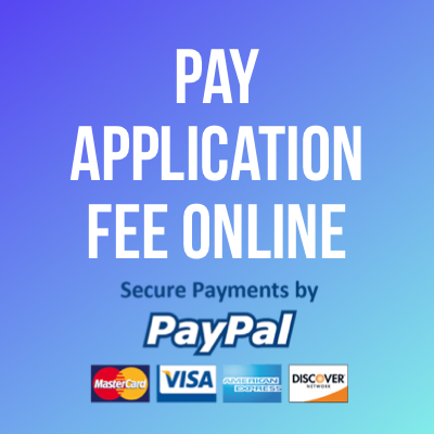 Pay Application Fee Online via PayPal