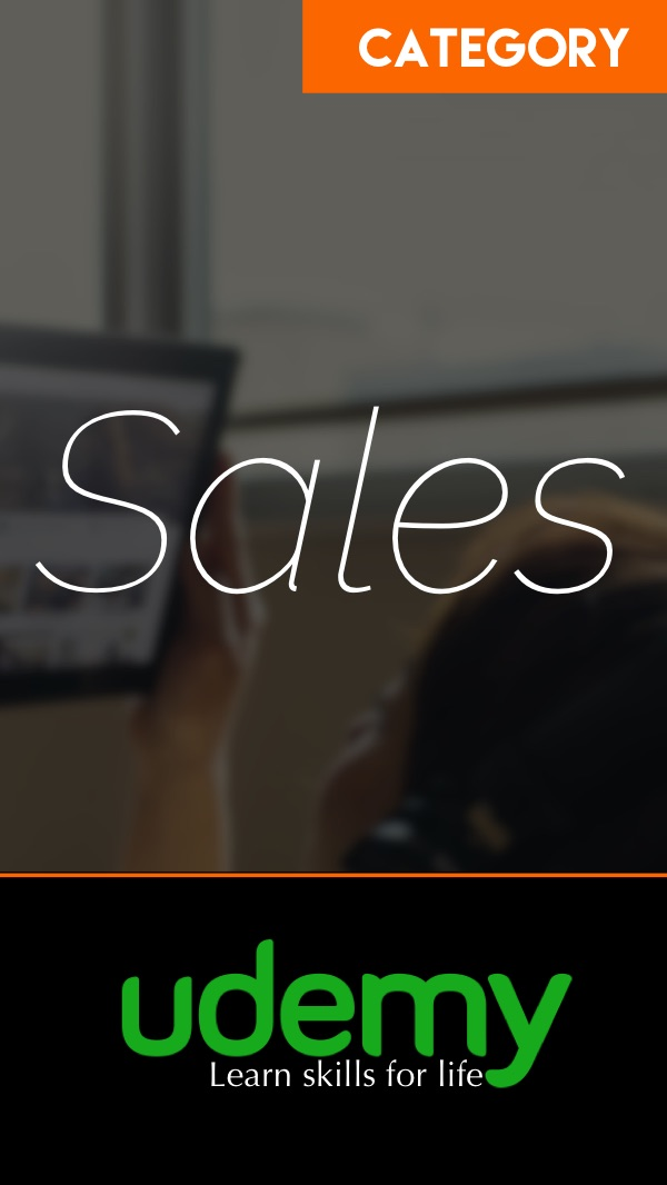 Sales Courses at Udemy